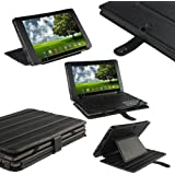 "iGadgitz Black Genuine Leather Case Cover for Asus Eee Pad Transformer & Keyboard Dock TF101 TF101G 10.1"" 3.0 Android Tablet"