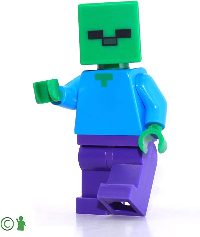 4 Zombie Minifigures With Accessories! LEGO Minecraft ZOMBIE HORDE