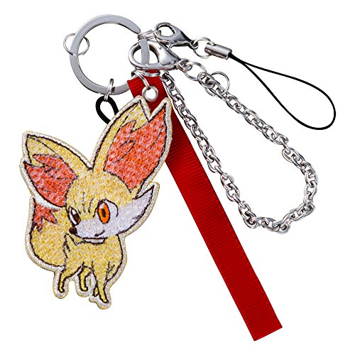 Pokemon XY Key Chain Charm Fennekin/Fokko Sequins