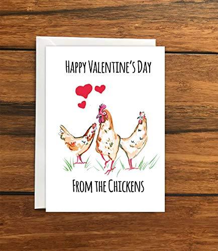 Chicken Valentine Card