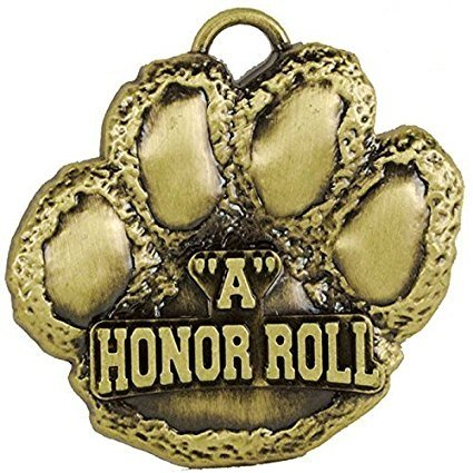ubargain 2ゴールドPaw Medals – A Honor Roll withリボン B07CQ4SG5Z