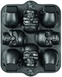 Wilton 2105-0607 Dimensions 8-Cavity 3D Skull Pan, Mini
