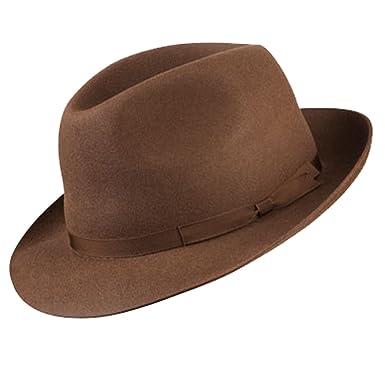Olney Newbury Classic Fur Felt Racing Trilby Hat  Amazon.co.uk  Clothing cf2be337acf