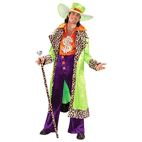 Forum Novelties Men's Big Daddy Pimp Costume, Multicolor, - Daddy Pimp Necklace
