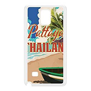 Pattaya Thailand White Hard Plastic Case for Galaxy Note 4 by Nick Greenaway + FREE Crystal Clear Screen Protector