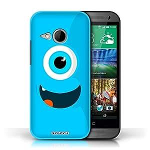 Kobalt® protector duro de nuevo caso / cubierta para el HTC One/1 Mini 2   Azul Diseño   Monstruos colección