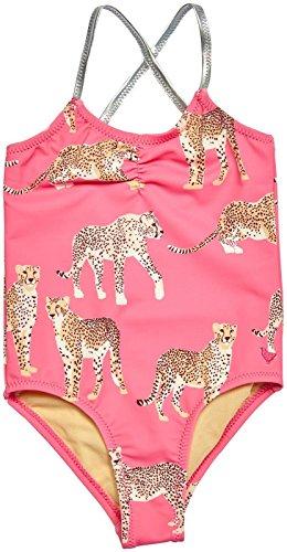 Pink Chicken Girls' Baby Belle Swimsuit, Cheetah, 12/18 Months