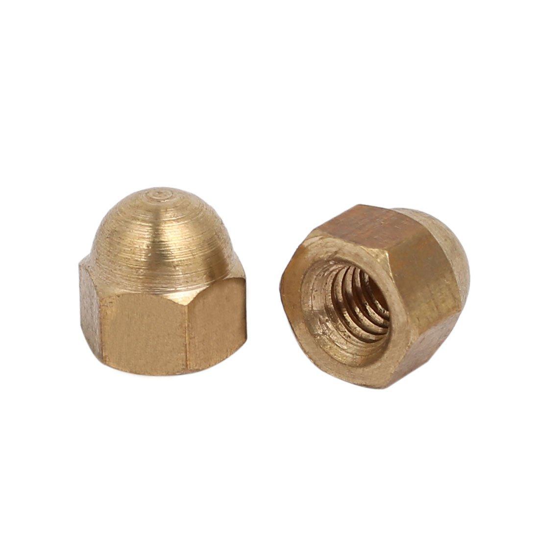 sourcingmap/® 30 St/ück M4 Innengewinde Nuss DIN1587 Dome Kappe Kopf Hex Messing DE de