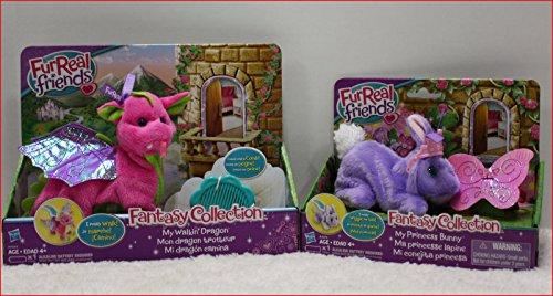 LOT 2- FurReal Friends SKYHEART FANTASY Walkin Pink DRAGON + PRINCESS BUNNY =NEW /#sophies-quest from FurReal
