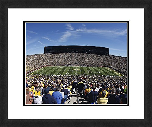 NCAA Michigan Wolverines Stadium, Beautifully Framed and Double Matted, 18