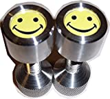 Two Hole Pins. Small. 1/2'' X 1-1/8''. Flange Pins. Smily Face.