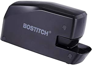 Portable Electric Stapler, 20 Sheets, AC or Battery Powered, Black (New Version)
