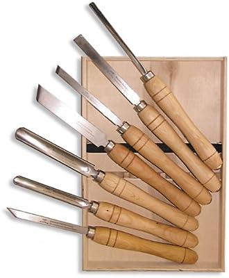 Stubai 709107 Set de formones en estuche de madera, HSS, 7-tlg: Amazon.es: Bricolaje y herramientas