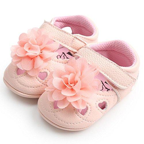 Prevently Baby Kleinkind Schuhe Baby Hohle Blume Kleinkind Schuhe Baby Mädchen Blume aushöhlen Mode Bandage Kleinkind Leder Erste Wanderer Kind Schuhe Rosa