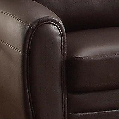 Homelegance 9734BK-1 Upholstered Chair, Black Bonded Leather Match