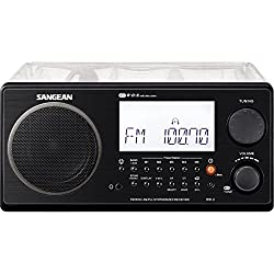 Sangean FM-Stereo RBDS / AM Digital Tuning Portable Receiver - Clear Cabinet (Institutional Model, No Alarm Function, No Auxiliary Input)