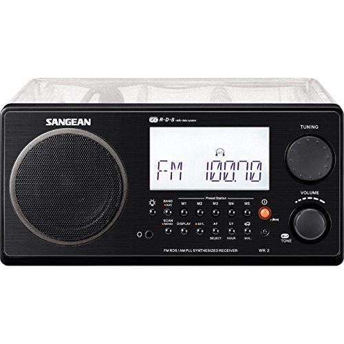 Sangean FM-Stereo RBDS / AM Digital Tuning Portable Receiver - Clear Cabinet (Institutional Model, No Alarm Function, No Auxiliary Input) by Sangean