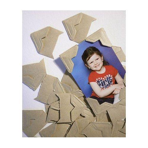 Lineco Self-adhesive Acid Free Kraft Photo Corners 252 Pkg,1/2 inch - Corner Tabs