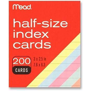 Amazon Oxford Mini Index Cards 3