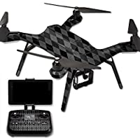 MightySkins Protective Vinyl Skin Decal for 3DR Solo Drone Quadcopter wrap cover sticker skins Black Argyle