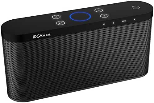 Wireless Bluetooth Wi-Fi Home Speaker,DOSS Touch Multi-room Smart speaker with 20W output and deep Bass supports Exclusive App streaming Pandora, Spotify, iHeartRadio,Tuneln ,music services - Black