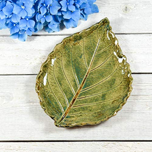 Pottery Snack - Pottery Leaf - Spoon Rest - Soap Dish - Handmade
