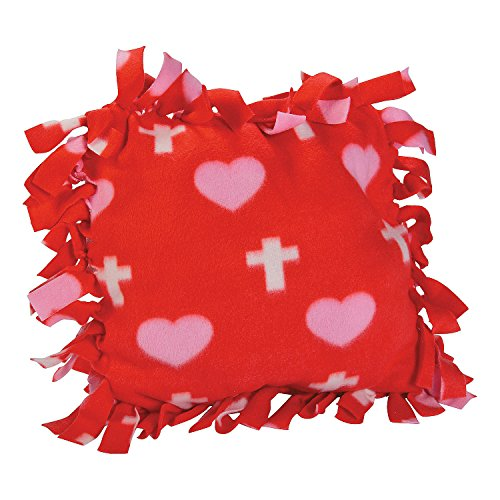 Cross Print Tied Fleece Pillow Craft Kit ()