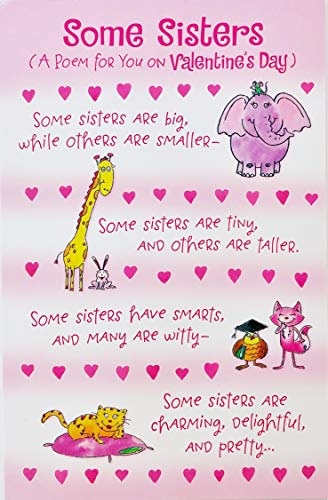 "Funny/Humor Happy Valentine's Day Greeting Card to Sister -""I am really glad that you are my sister!"""