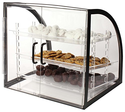 Countertop Bakery Display Case Clear Acrylic With Black
