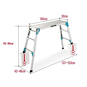 Outstanding Amazon Com Telescoping Ladders Zr Folding Step Hop Up Ncnpc Chair Design For Home Ncnpcorg