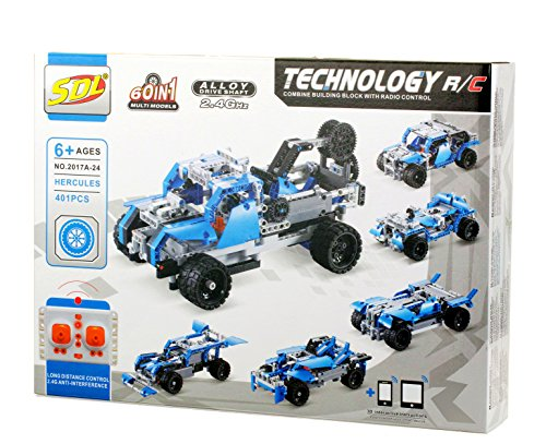 401 Brick (Bo Toys Building Bricks STEM 60 in 1 RC Toy, 401 Pcs Buggy, Race car 60 in 1 Models Construction Blocks, Build It Yourself Remote Control Toys)