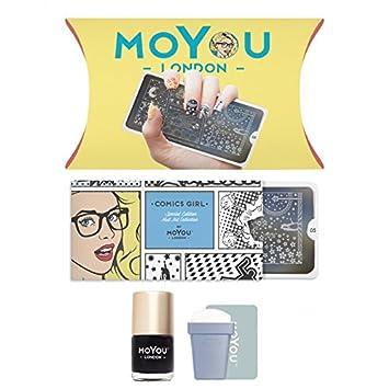 Amazon.com : MoYou-London Nail Art Starter Kit Comics Collection ...