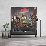 Society6 Wall Tapestry, Size Large: 88'' x 104'', Dogs Playing Poker Painting by publicdomaindesign