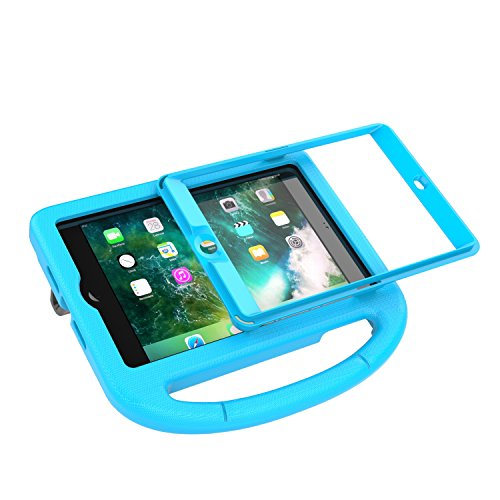 LEDNICEKER Kids Case for iPad Mini 1 2 3 - Built-in Screen Protector Light Weight Shock Proof Handle Friendly Convertible Stand Kids Case for iPad Mini, iPad Mini 3, iPad Mini 2 - Blue by LEDNICEKER (Image #5)