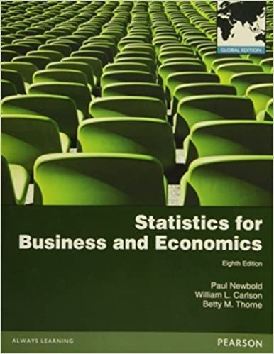 Statistics For Business And Economics Newbold 7th Edition Pdf