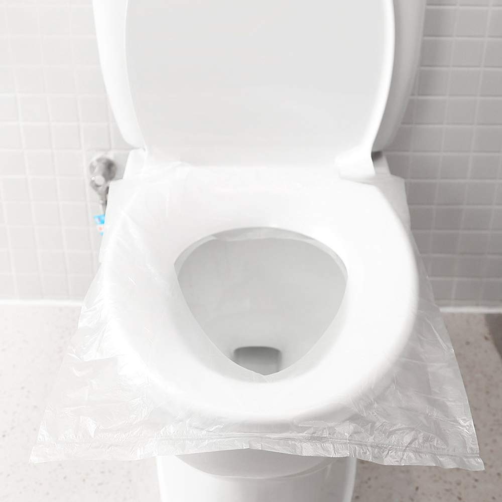 40pc/portable 100% impermeable desechable inodoro cubierta del ...