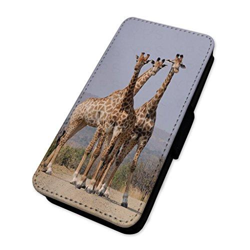Cute Giraffe Family Animals–Flip cover in pelle copertura di carta Apple Iphone 7