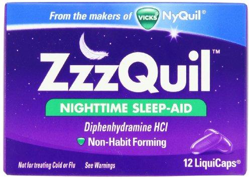 ZzzQuil sommeil nocturne-Aid LiquiCaps 12 comte