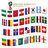 Apol 2018 FIFA World Cup Flags,Top 32 Teams National Flags String Banner,for Restaurants,Fan Clubs,Party,Bars,Game Night,Sport Clubs Decoration