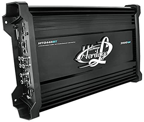 Lanzar HTG448BT Heritage Series 2000 Watt 4-Channel Mosfet Amplifier with Wireless Bluetooth - 1995 Oldsmobile 98 Series