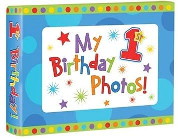 My 1st Birthday Photo Album Boy 36 Photos Amazoncouk Baby