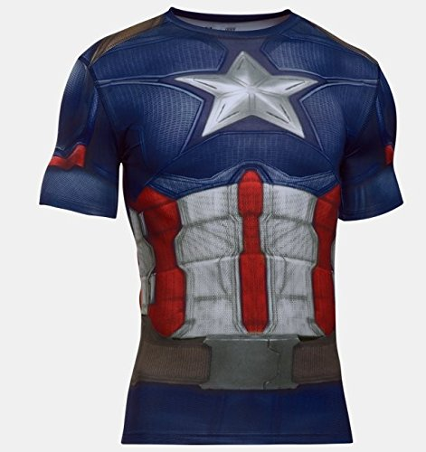 Under Armour Alter Ego Captain America Compression SM Midnight Navy