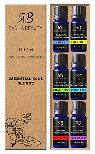 -[ Radha Essential Oil Blends Set - 100% Pure and Natural Kit for Aromatherapy Pirates of the Sea,
