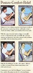 Bodyline Back-Huggar - Traditonal/Regular Style - The Original Lumbar Cushion - Black