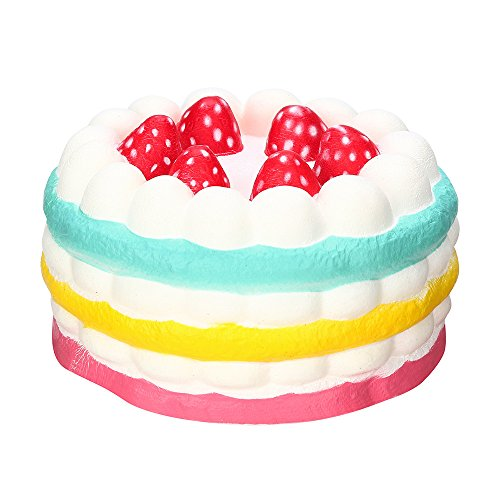 Strawberry Cake Scented Super Slow Rising Collection Squeeze Toy,Selinora'S Anti-Stress Cute Kawai Squishy Decompression Soft Relieve Stress Color Mixing Scented Gift for Adult Or Kids