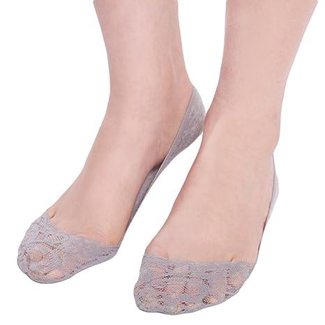 Doitsa 1 pair calcetines corta de encaje para mujeres calcetines invisibles calcetines absorbente sudor calcetines