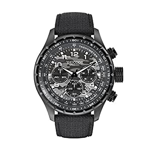 Timecode Sputnik 1957 TC-1011-15 49mm Men's Watch Gray Camouflage dial GRAY Fabric Date Chronograph