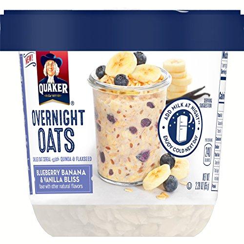 Quaker Overnight Blueberry Banana Vanilla Oats , 2.29 Ounce