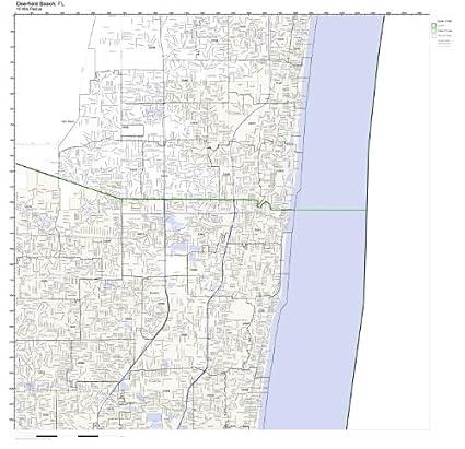 Amazon.com: Deerfield Beach, FL ZIP Code Map Laminated: Home & Kitchen
