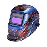 Nuzamas Solar Powered Auto Darkening Welding Helmet Mask Weld Face Protection for Arc Tig Mig Grinding Plasma Cutting with Adjustable Shade Range DIN4/9-13 UV/IV protection DIN16
